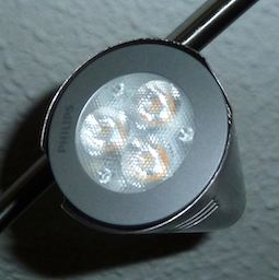 Econic 3W LED in fitting closeup