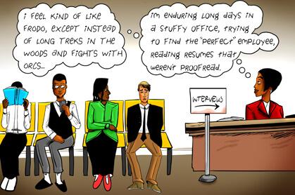 panel 5: reading too many bad CVs