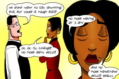 panel 6: you're a tough boss
