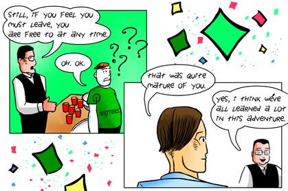 panel 6: very mature response