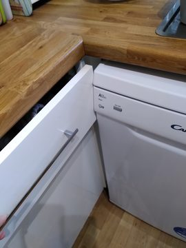 dishwasher slimline domestic Candy CDP2L1049W too deep 3 DHD