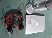MacBook Air Leap mobile headset Jabra headset Blue Yeti