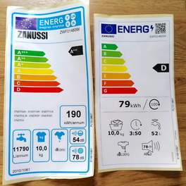 ZWF01483W two energy labels
