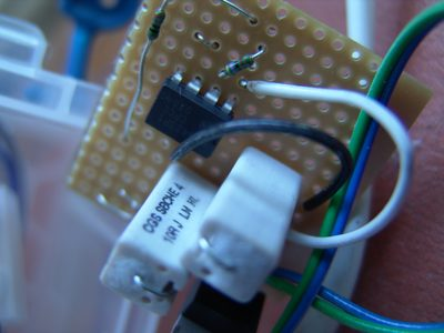 crowbar overvoltage protection on stripboard