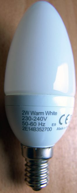 2W LED Philips AccentWhite ES14 candle bulb unlit