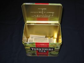 tea black Yorkshire Tea in metal caddy tin packshot 1 JR