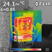 thermal imaging of house interior and exterior and nearby on chilly February evening about 6C ambient with Flir Systems b40 in Kingston London England 2 DHD