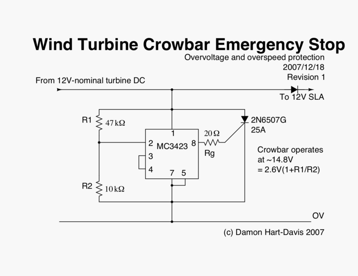crowbar energency stop schematic