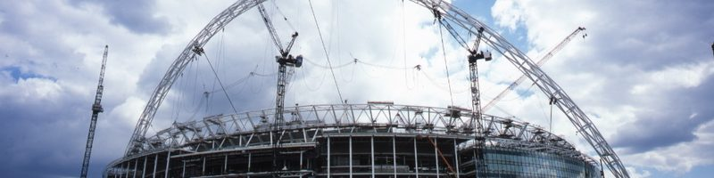Wembley Stadium Arch under construction AJHD