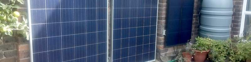 solar panels on garden wall